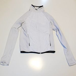 Athleta track or running jacket in white XS